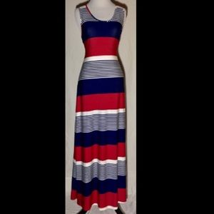 Red, White, & Blue Charlie Page Summer Maxi Dress